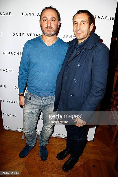 Designer Dany Atrache and Actor Zinedine Soualem attend the Dany Atrache Spring Summer 2016 show as part of Paris Fashion Week on January 25 2016 in...