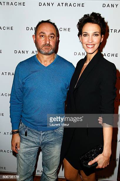 Designer Dany Atrache and Actress Linda Hardy attend the Dany Atrache Spring Summer 2016 show as part of Paris Fashion Week on January 25 2016 in...