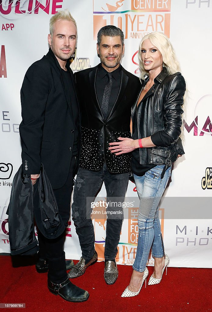 Designer David Blond , Mike Ruiz and Phillipe Blond attend Mike Ruiz' Birthday Gala at XL Nightclub on December 7, 2012 in New York City.