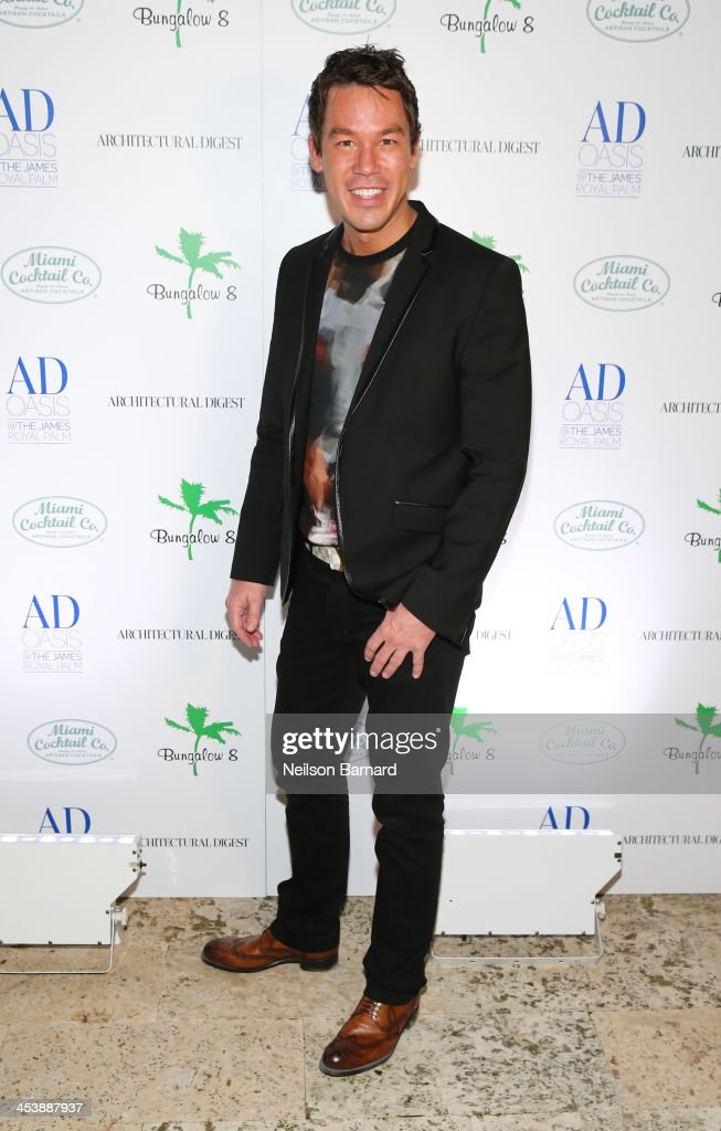 Designer David Bromstad attends AD Oasis And Amy Sacco Host Bungalow 8 Party at James Royal Palm Hotel on December 5, 2013 in Miami Beach, Florida.