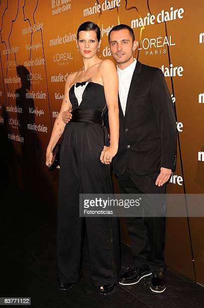 Designer David Delfin and model Bimba Bose attend Marie Claire Prix de la Mode 2008 ceremony at the French Ambassador's residence on November 20 2008...