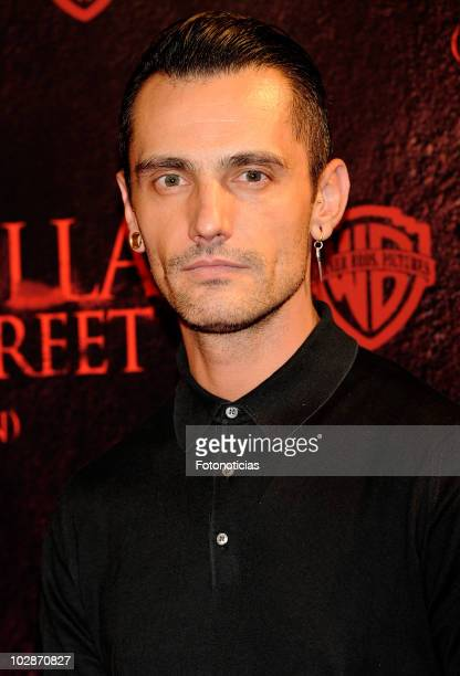 Designer David Delfin attends the premiere of 'Pesadilla en Elm Street' at the Capitol Cinema on July 13 2010 in Madrid Spain