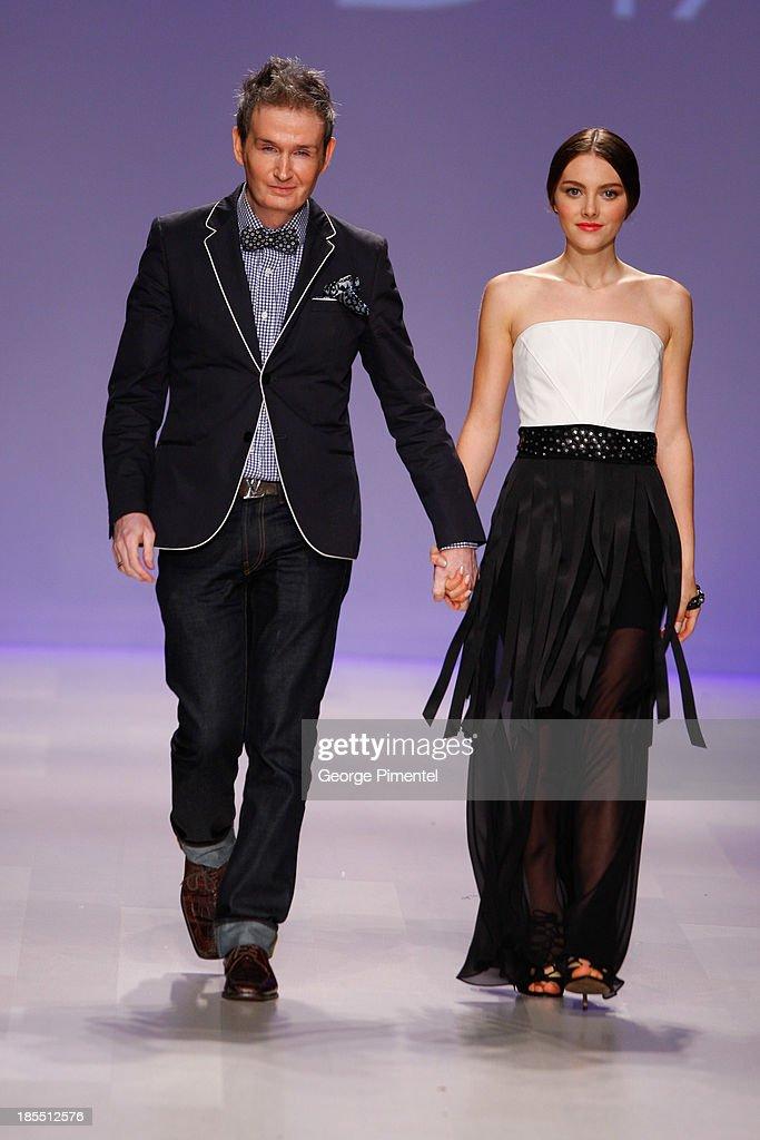 Designer David Dixon presents his spring 2014 collection duringÊWorld MasterCard Fashion Week Spring 2014 at David Pecaut Squareon October 21, 2013 in Toronto, Canada.