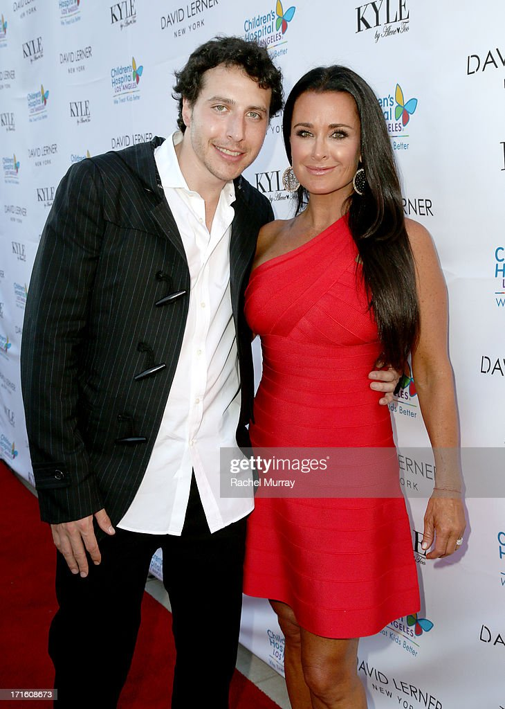 Designer David Lerner (L) and TV personality Kyle Richards attend Kyle Richards hosts a Fashion Fundraiser for Children's Hospital Los Angeles at Kyle By Alene Too on June 26, 2013 in Beverly Hills, California.