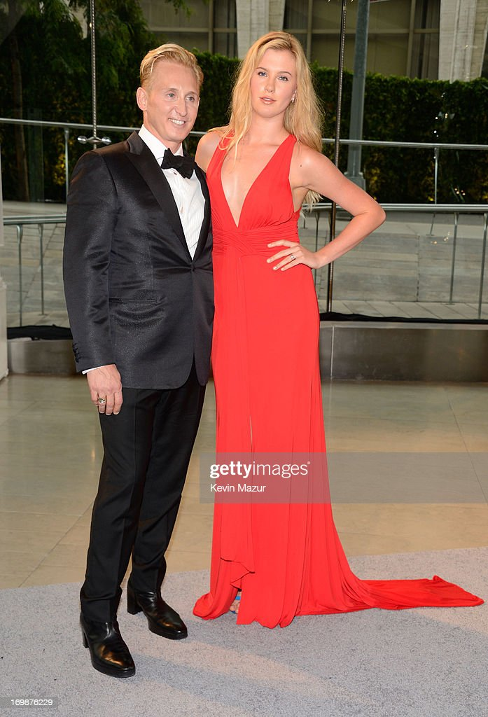 Designer David Meister (L) and Ireland Baldwin attend 2013 CFDA Fashion Awards at Alice Tully Hall on June 3, 2013 in New York City.