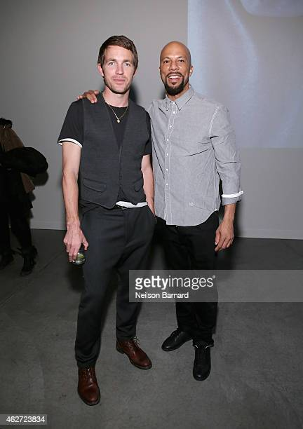 Designer David Neville and Common attend Rag Bone Fall/Winter 2015 Menswear Presentation at Dia Center on February 3 2015 in New York City