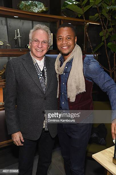 Designer David Yurman poses for a photo together with actor Cuba Gooding Jr at the David Yurman Soho Boutique Grand Opening event to benefit New...