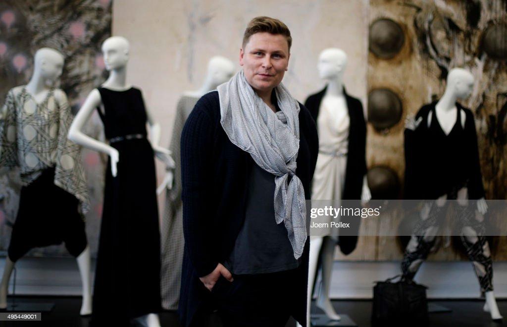 Designer Dawid Tomaszewki poses during the 'Dawid Tomaszewki Pop-Up Store Opening' on June 3, 2014 in Hamburg, Germany.