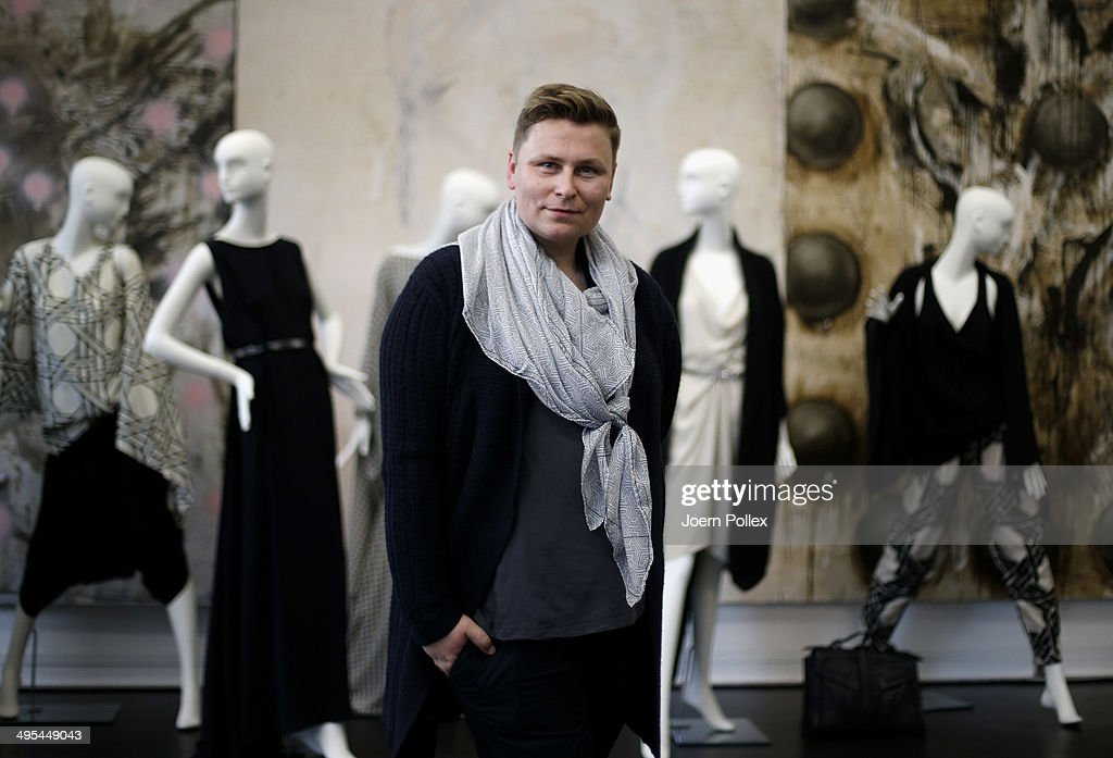 Designer Dawid Tomaszewki poses during the 'Dawid Tomaszewki Pop-Up Store Opening' on June 3, 2014 in Hamburg, Germany.