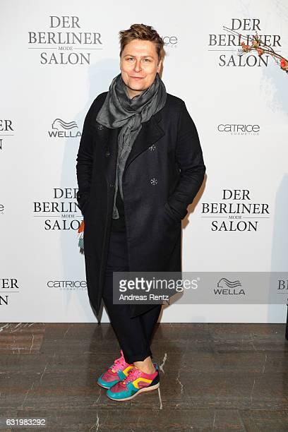 Designer Dawid Tomaszewski attends the group presentation during the Der Berliner Mode Salon A/W 2017 at Kronprinzenpalais on January 18 2017 in...