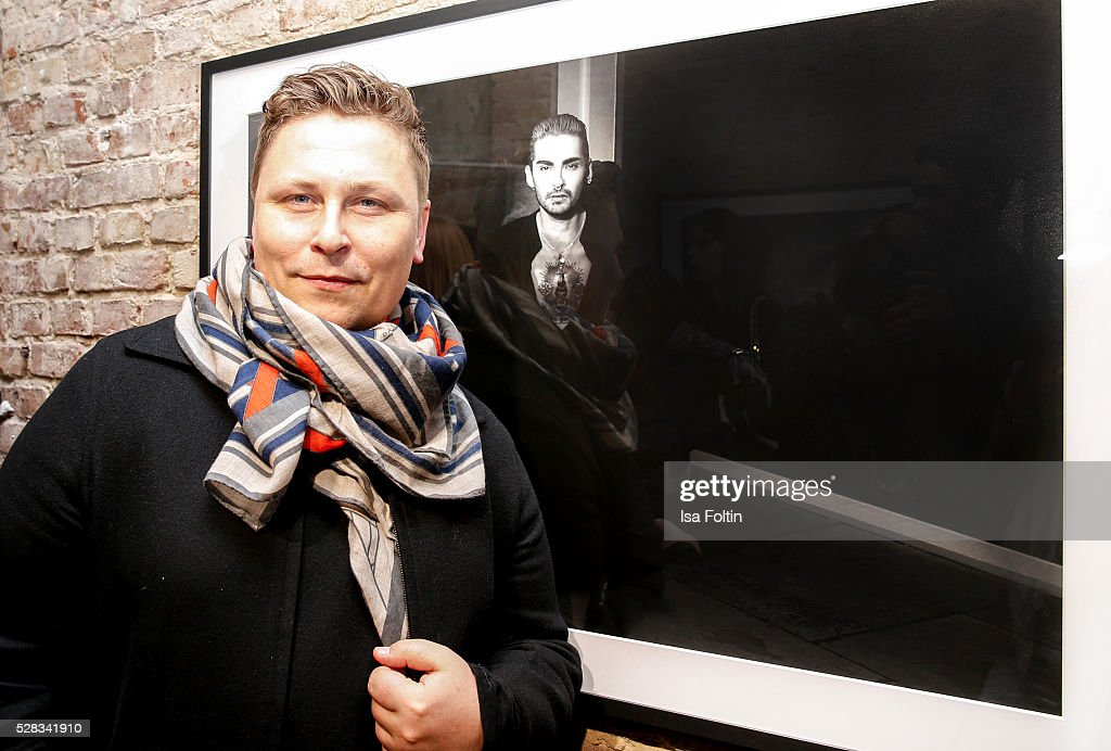 Designer Dawid Tomaszewski attends the photo art exhibition and book launch of BILLY at Seven Star Gallery on May 4, 2016 in Berlin, Germany.