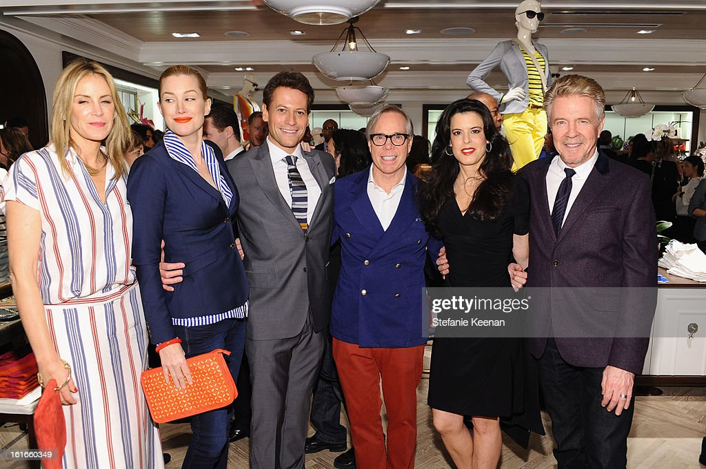 Designer Dee Hilfiger, actress Alice Evans, actor Ioan Gruffudd, fashion designer Tommy Hilfiger, producer Keri Selig and Chair of Oceana Board of Directors Keith Addis attend Tommy Hilfiger New West Coast Flagship Opening on Robertson Boulevard on February 13, 2013 in West Hollywood, California.