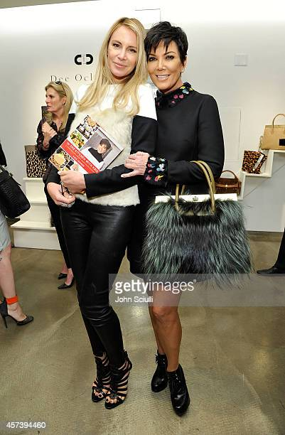 Designer Dee Ocleppo and Kris Jenner attend Dee Ocleppo PA at Saks Fifth Avenue Beverly Hills on October 17 2014 in Beverly Hills California