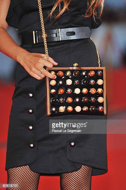 Designer Delfina Delettrez attends the 'Birdwatchers La Terra Degli Uomini Rossi' film premiere at the Sala Grande during the 65th Venice Film...