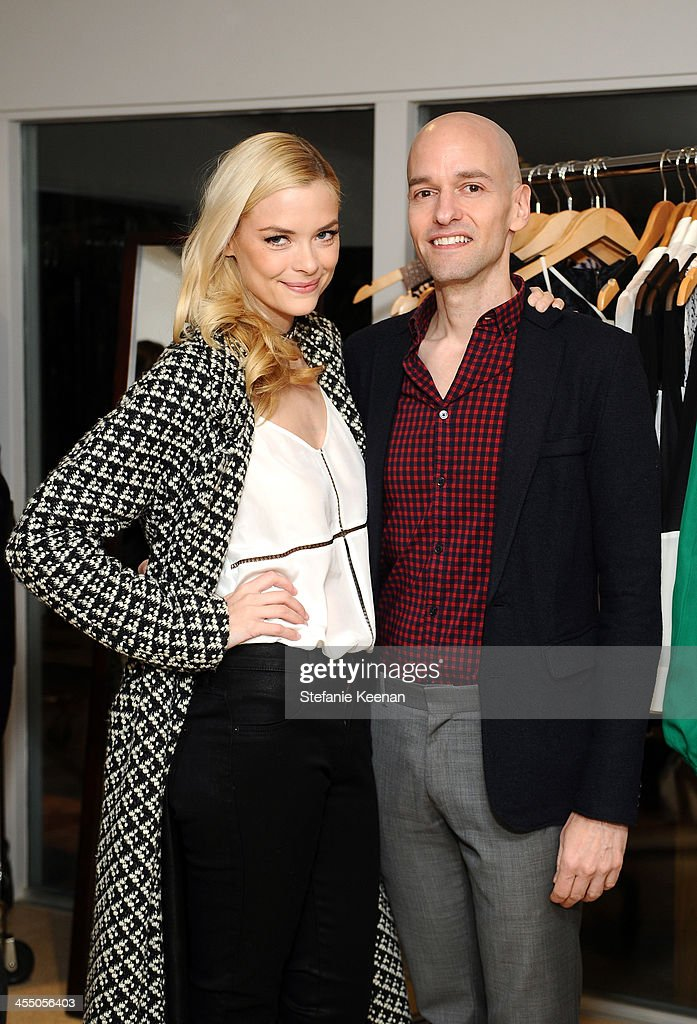 Designer Derek Farrar of Parker and <a gi-track='captionPersonalityLinkClicked' href=/galleries/search?phrase=Jaime+King+-+Actress&family=editorial&specificpeople=206809 ng-click='$event.stopPropagation()'>Jaime King</a>, wearing Mara Hoffman, Parker, attend A Parker Party on December 10, 2013 in Los Angeles, California.