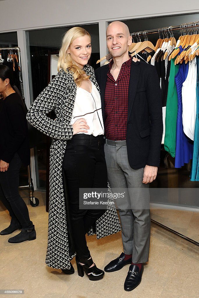 Designer Derek Farrar of Parker and <a gi-track='captionPersonalityLinkClicked' href=/galleries/search?phrase=Jaime+King+-+Actress&family=editorial&specificpeople=206809 ng-click='$event.stopPropagation()'>Jaime King</a>, wearing Mara Hoffman and Parker, attend A Parker Party on December 10, 2013 in Los Angeles, California.