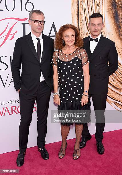 Designer Diane von Furstenberg and guests attend the 2016 CFDA Fashion Awards at the Hammerstein Ballroom on June 6 2016 in New York City