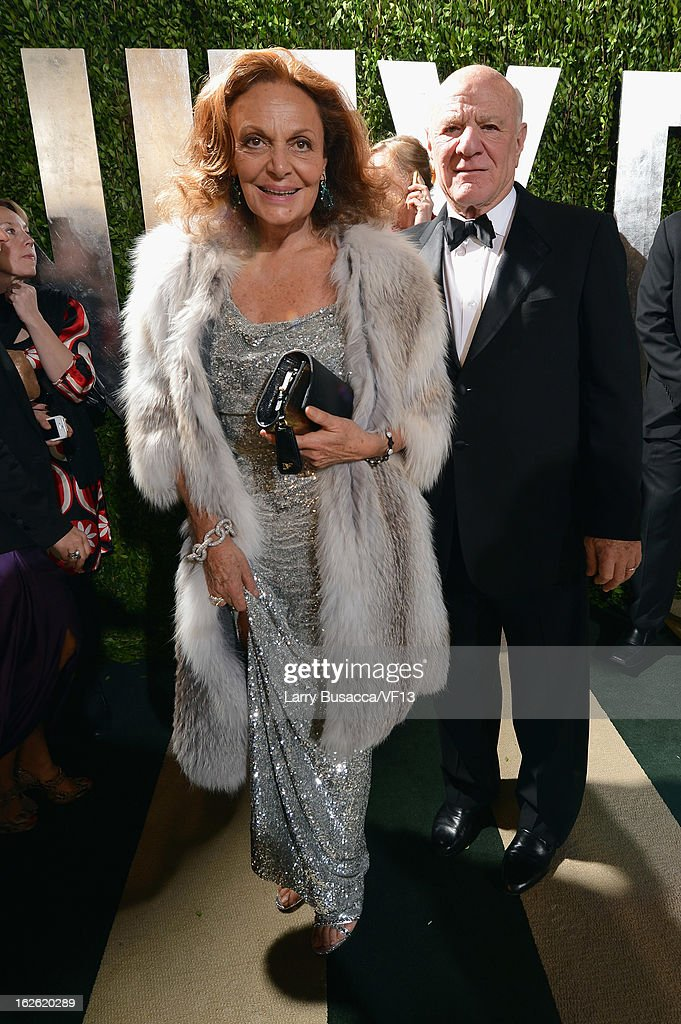 Designer Diane von Furstenberg arrives for the 2013 Vanity Fair Oscar Party hosted by Graydon Carter at Sunset Tower on February 24, 2013 in West Hollywood, California.