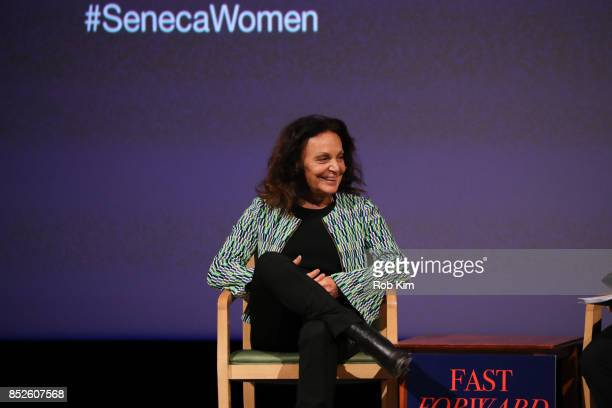 Designer Diane Von Furstenberg attends Fast Forward Women's Innovation Forum at The Metropolitan Museum of Art on September 23 2017 in New York City