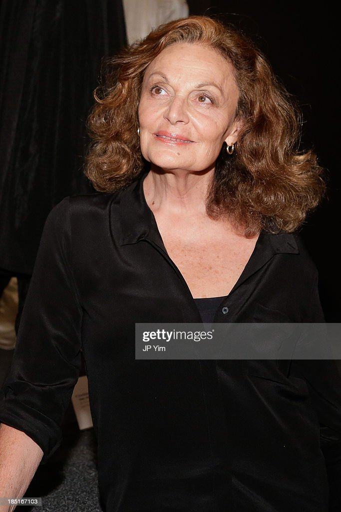 Designer Diane Von Furstenberg attends 'Perry Ellis: An American Original' By Jeffrey Banks book launch hosted by the CFDA, Perry Ellis and Parsons the New School for Design on October 17, 2013 in New York City.