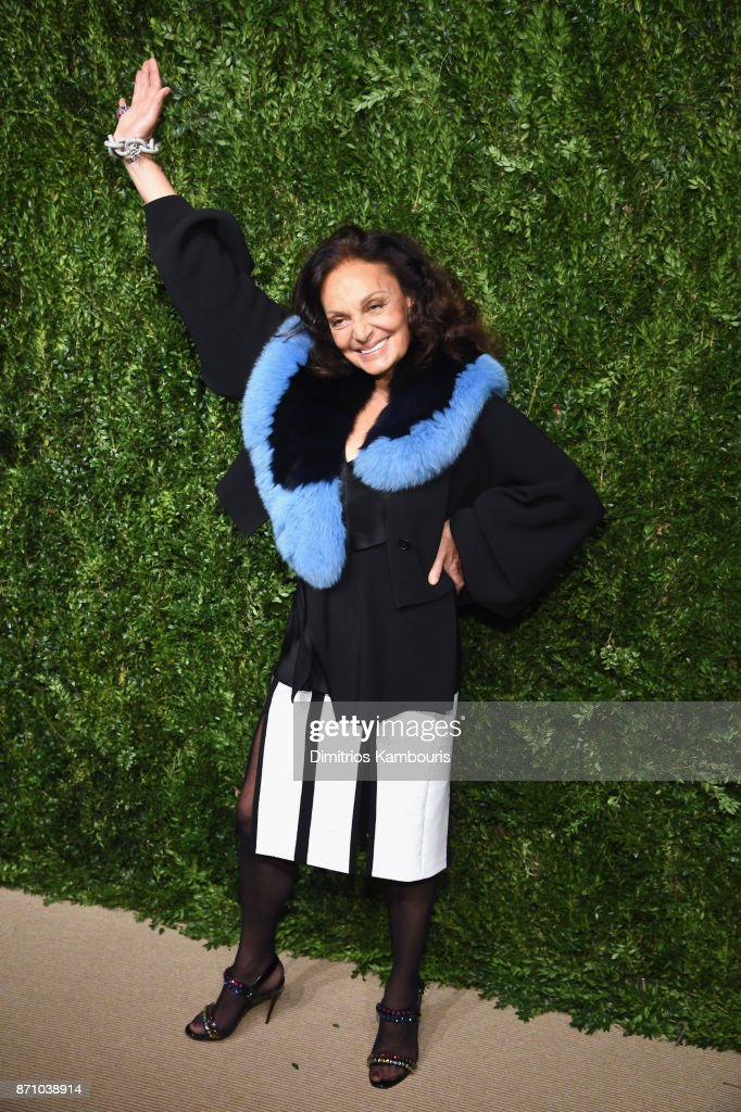 Designer Diane von Furstenberg attends the 14th Annual CFDA/Vogue Fashion Fund Awards at Weylin B. Seymour's on November 6, 2017 in the Brooklyn borough of New York City, New York.