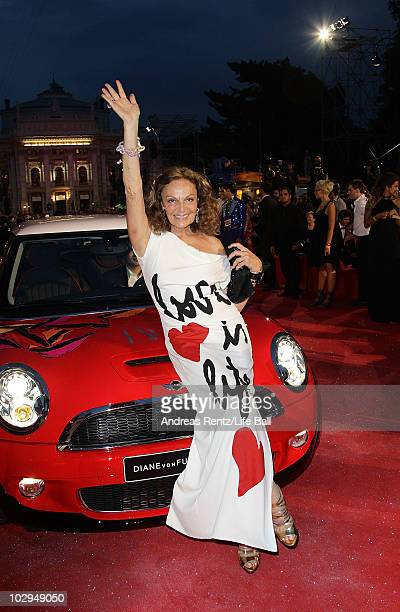 Designer Diane von Furstenberg attends the 18th Life Ball at the Town Hall on July 17 2010 in Vienna Austria The Life Ball is an annual charity ball...