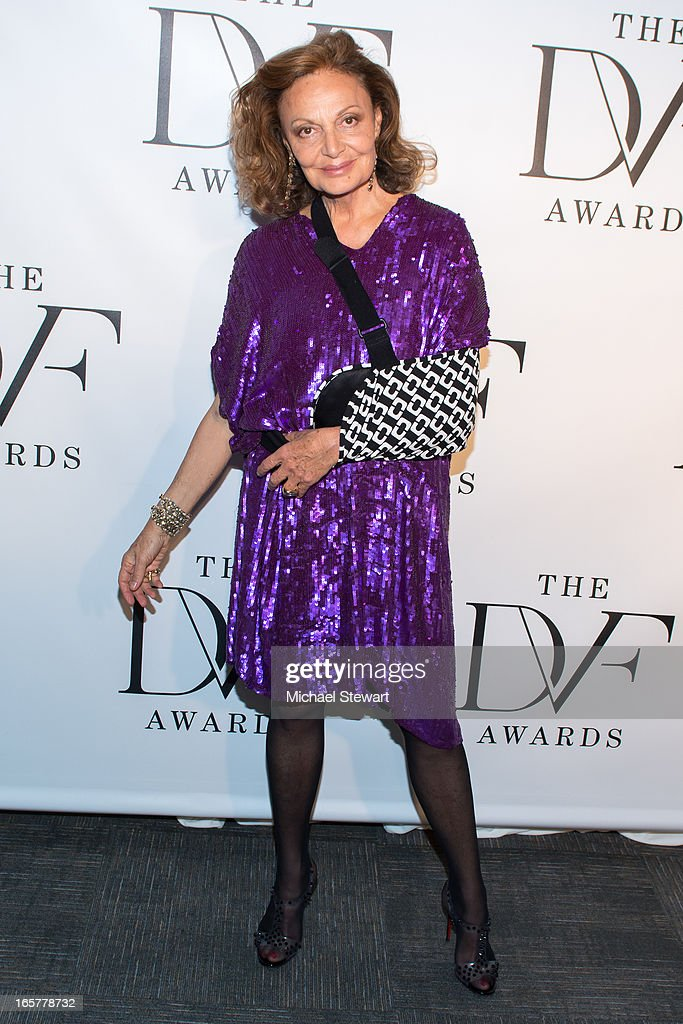 Designer Diane Von Furstenberg attends the 2013 DVF Awards at the United Nations on April 5, 2013 in New York City.