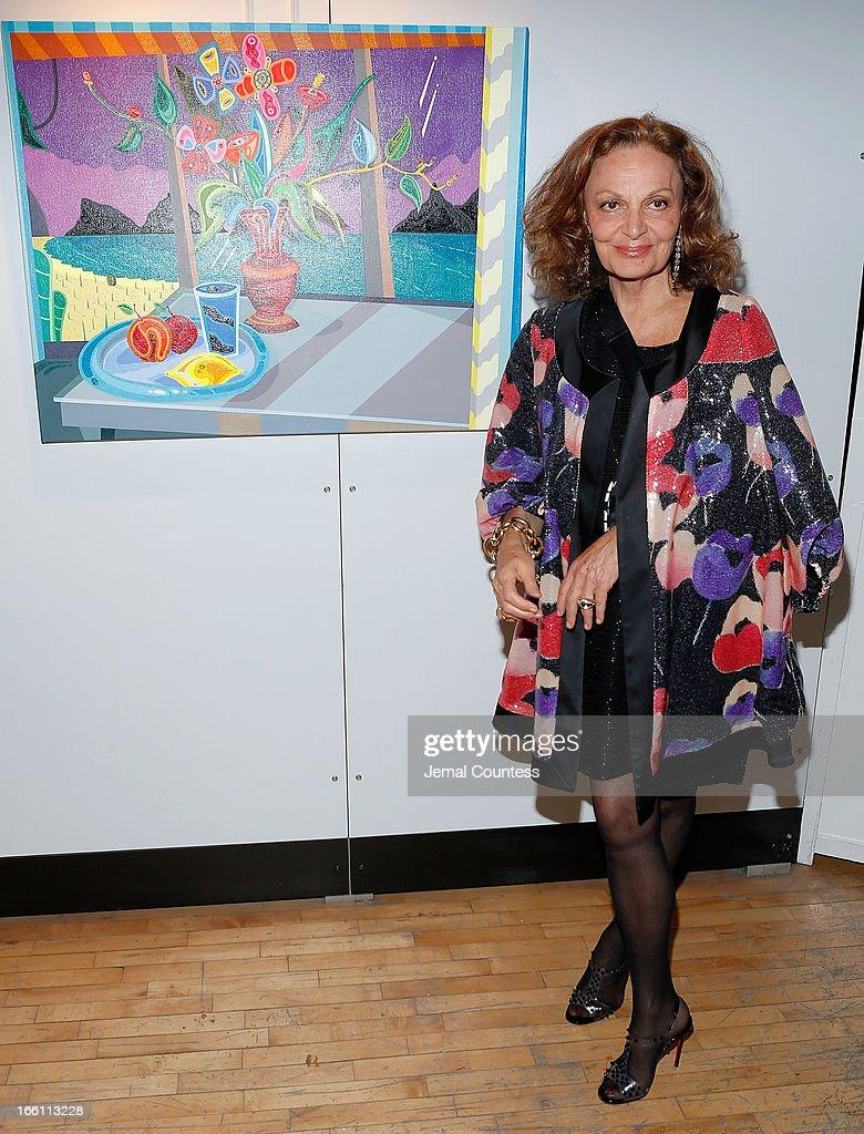 Designer Diane Von Furstenberg attends the 2013 Tribeca Ball at New York Academy of Art on April 8, 2013 in New York City.