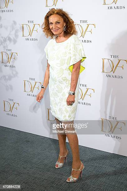 Designer Diane von Furstenberg attends the 2015 DVF Awards at United Nations on April 23 2015 in New York City