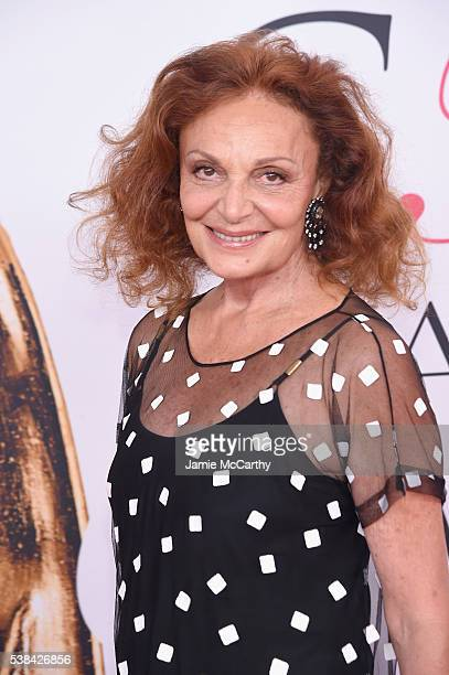 Designer Diane von Furstenberg attends the 2016 CFDA Fashion Awards at the Hammerstein Ballroom on June 6 2016 in New York City