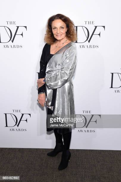 Designer Diane von Furstenberg attends the 2017 DVF Awards at United Nations Headquarters on April 6 2017 in New York City