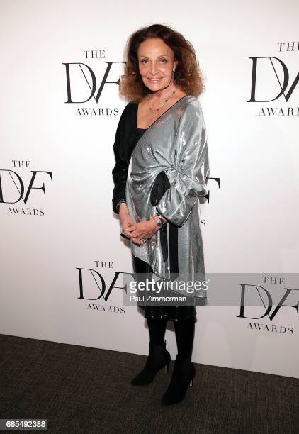 Designer Diane von Furstenberg attends the 2017 DVF Awards at United Nations on April 6 2017 in New York City