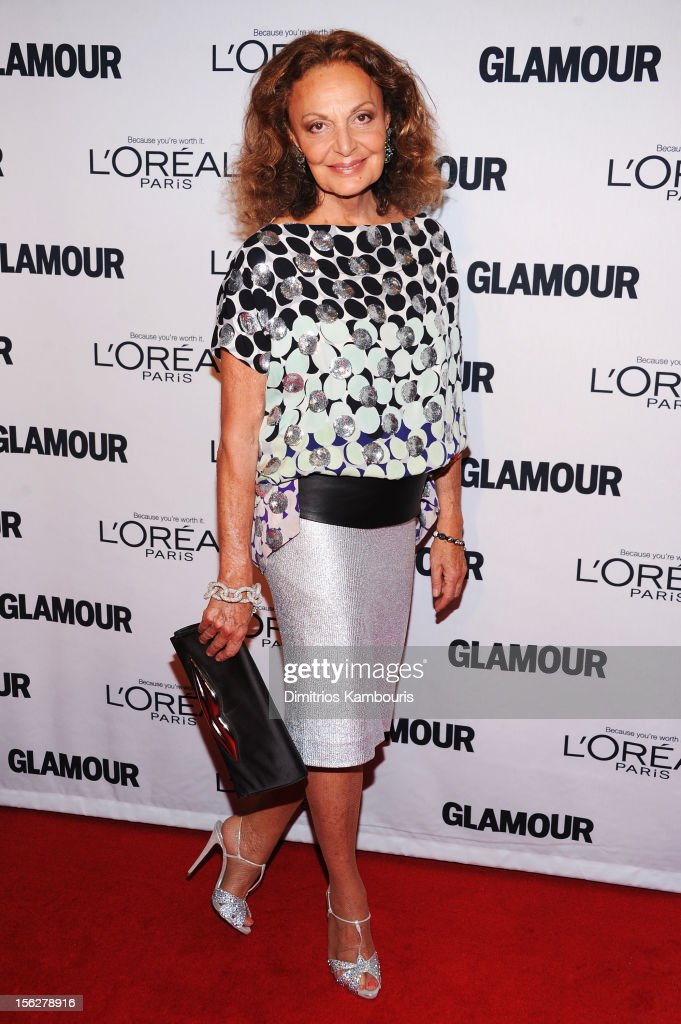 Designer Diane Von Furstenberg attends the 22nd annual Glamour Women of the Year Awards at Carnegie Hall on November 12, 2012 in New York City.