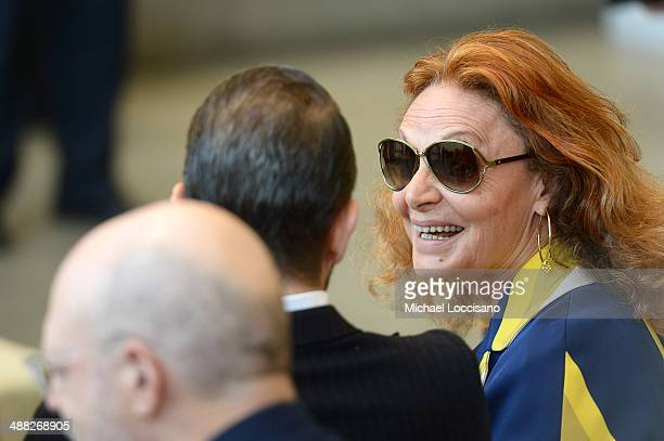 Designer Diane von Furstenberg attends the Anna Wintour Costume Center Grand Opening at the Metropolitan Museum of Art on May 5 2014 in New York City