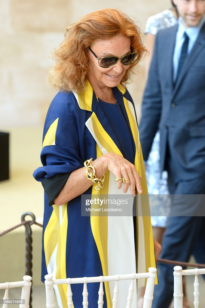 Designer Diane von Furstenberg attends the Anna Wintour Costume Center Grand Opening at the Metropolitan Museum of Art on May 5, 2014 in New York City.