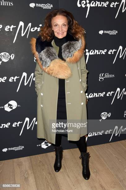 Designer Diane von Furstenberg attends the 'Cezanne Et Moi' New York Premiere at the Whitby Hotel on March 22 2017 in New York City