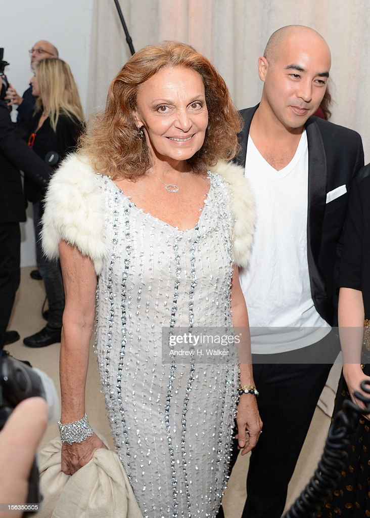 Designer Diane von Furstenberg attends The Ninth Annual CFDA/Vogue Fashion Fund Awards at 548 West 22nd Street on November 13, 2012 in New York City.