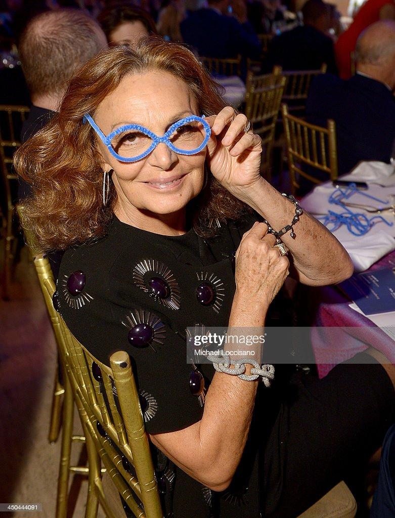 Designer Diane von Furstenberg attends the Worldwide Orphans Gala on November 18, 2013 in New York City.