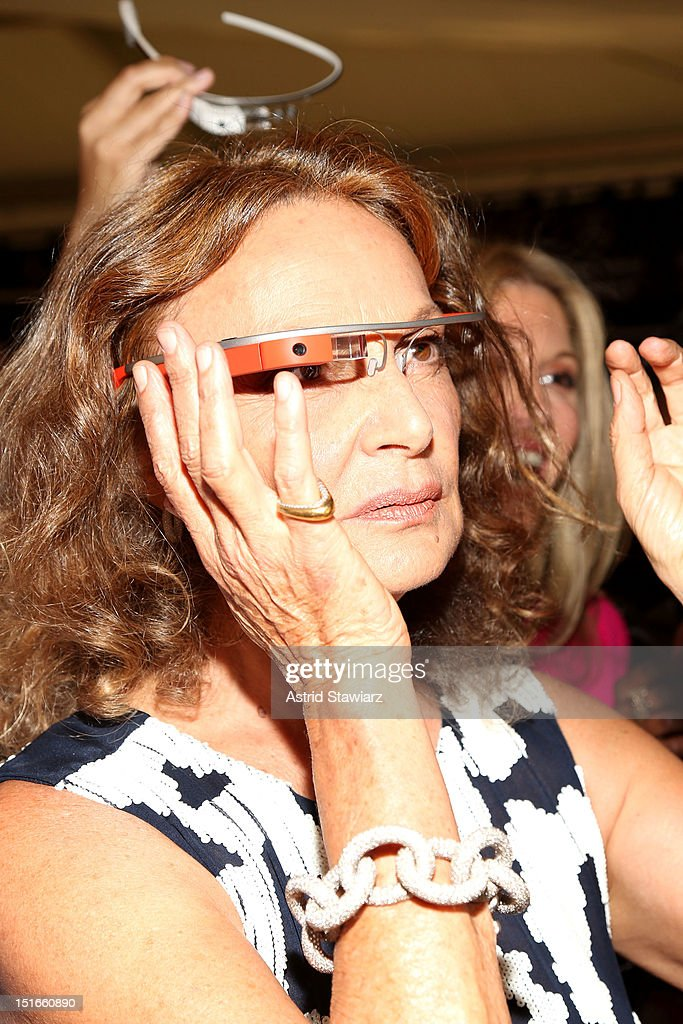 Designer Diane Von Furstenberg poses backstage at the Diane Von Furstenberg Spring 2013 fashion show during Mercedes-Benz Fashion Week at The Theatre at Lincoln Center on September 9, 2012 in New York City.