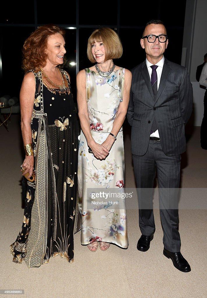 Designer Diane von Furstenberg Vogue Editorinchief Anna Wintou and CFDA President Steven Kolb attend the 12th annual CFDA/Vogue Fashion Fund Awards...