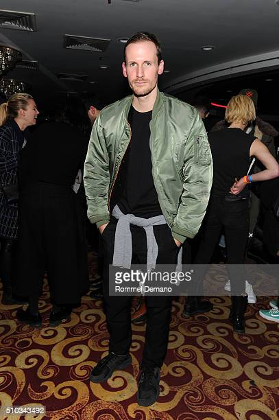 Designer Dion Lee attends Opening Ceremony After Party at 88 Palace on February 14 2016 in New York City