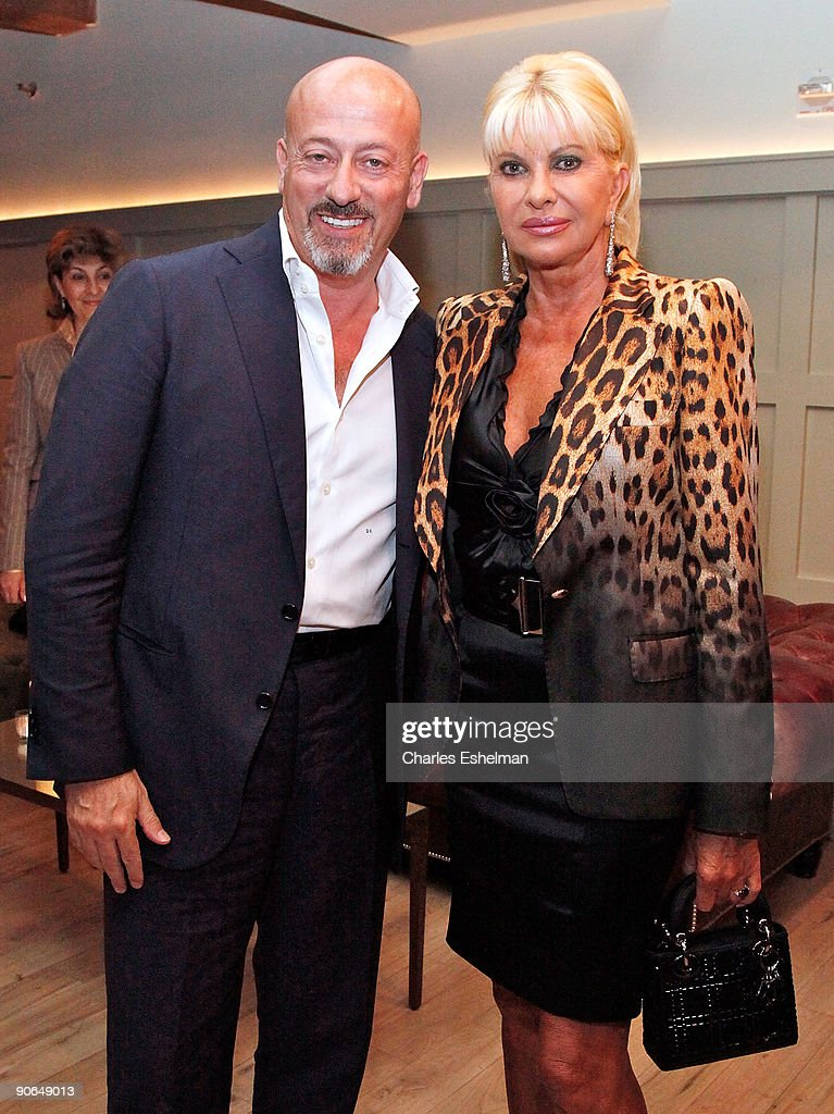 Designer Domenico Vacca and Ivana Trump attend the Domenico Vacca Spring 2010 presentation at the Soho House on September 12, 2009 in New York City.