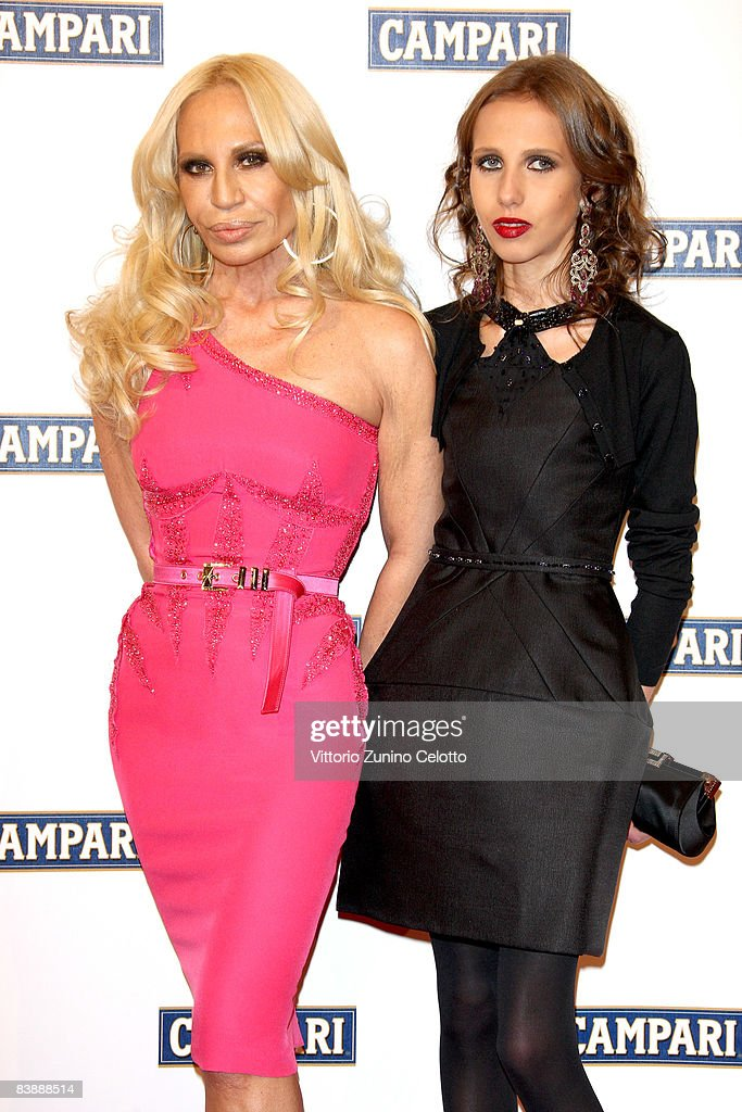 Designer Donatella Versace and her daughter Allegra Beck Versace attend the Campari Club, 2009 Campari Calendar launch at La Permanente on December 2, 2008 in Milano, Italy.