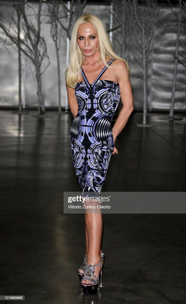 Designer Donatella Versace attends the 2010 Convivio held at Fiera Milano City on June 10, 2010 in Milan, Italy.