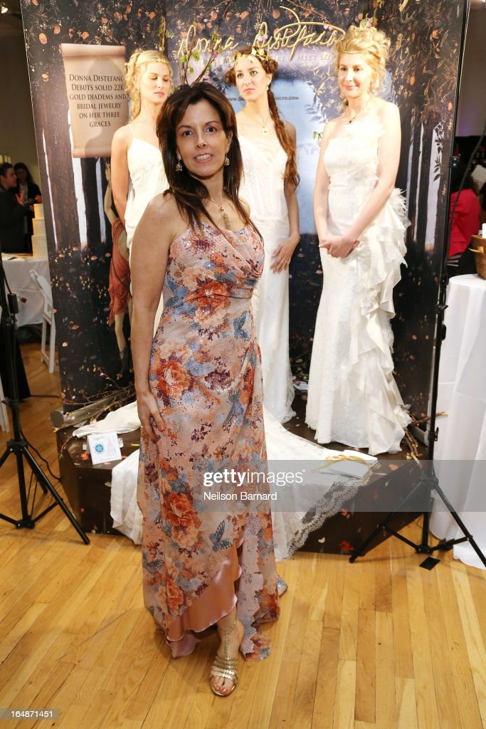 Designer Donna Distefano attends the New York Magazine Weddings event at Metropolitan Pavilion on March 28, 2013 in New York City.