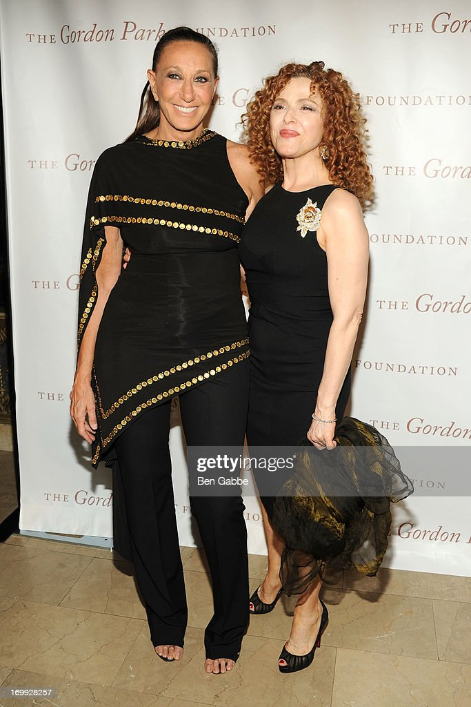 Designer Donna Karan (L) and actress <a gi-track='captionPersonalityLinkClicked' href=/galleries/search?phrase=Bernadette+Peters&family=editorial&specificpeople=203332 ng-click='$event.stopPropagation()'>Bernadette Peters</a> attend 2013 Gordon Parks Foundation Awards at The Plaza Hotel on June 4, 2013 in New York City.