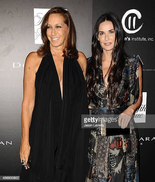 Designer Donna Karan and actress Demi Moore attend the 5th annual PSLA Autumn Party at 3LABS on October 8 2014 in Culver City California