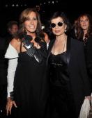 Designer Donna Karan and Bianca Jagger attend the Donna Karan New York show during Spring 2013 MercedesBenz Fashion Week on September 10 2012 in New...