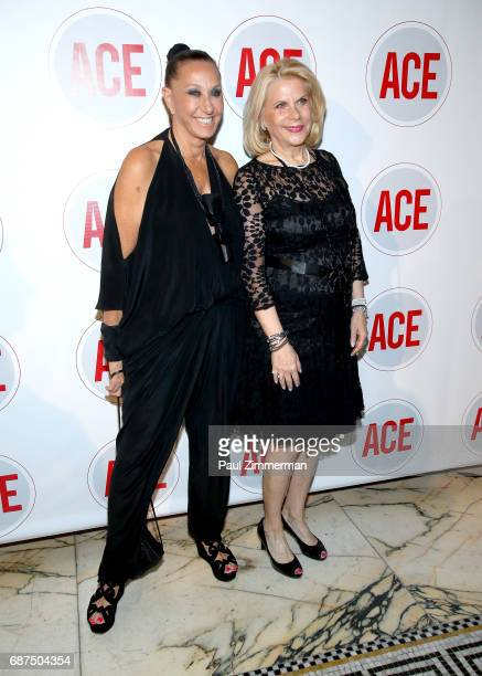 Designer Donna Karan and Francine LeFrak attend the 2017 ACE Gala at Capitale on May 23 2017 in New York City