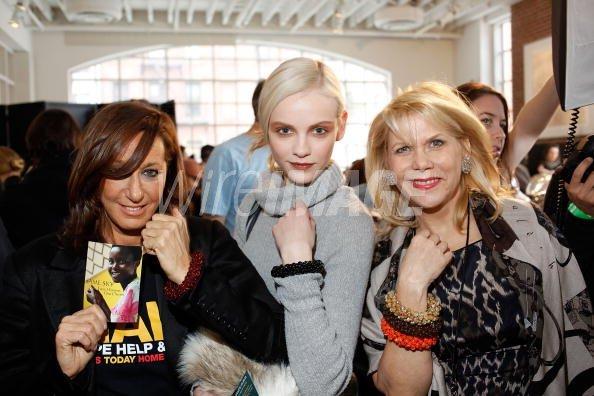 Designer Donna Karan And Francine Lefrak Founder Of Same Sky Pose For Wireimage 96752420